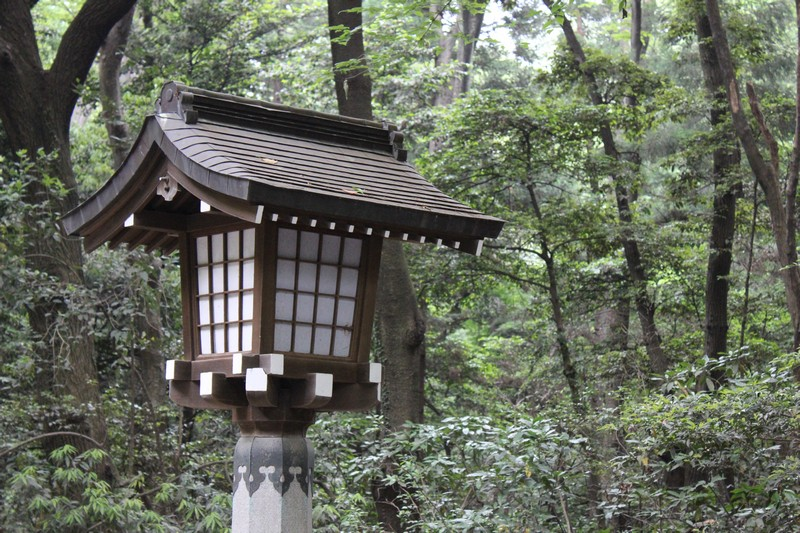 Entrance to Meiji - Lantern