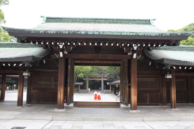 The open doors of the shrine.