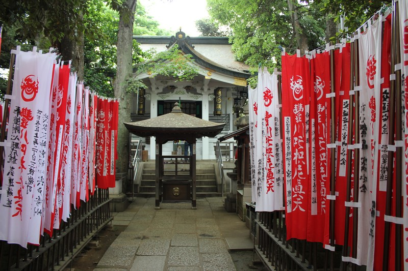 Pathway to the shrines.