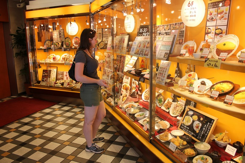Food Displays in Shibuya