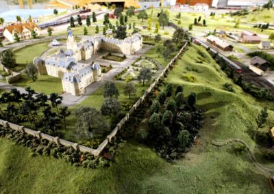 Model Village with Trains
