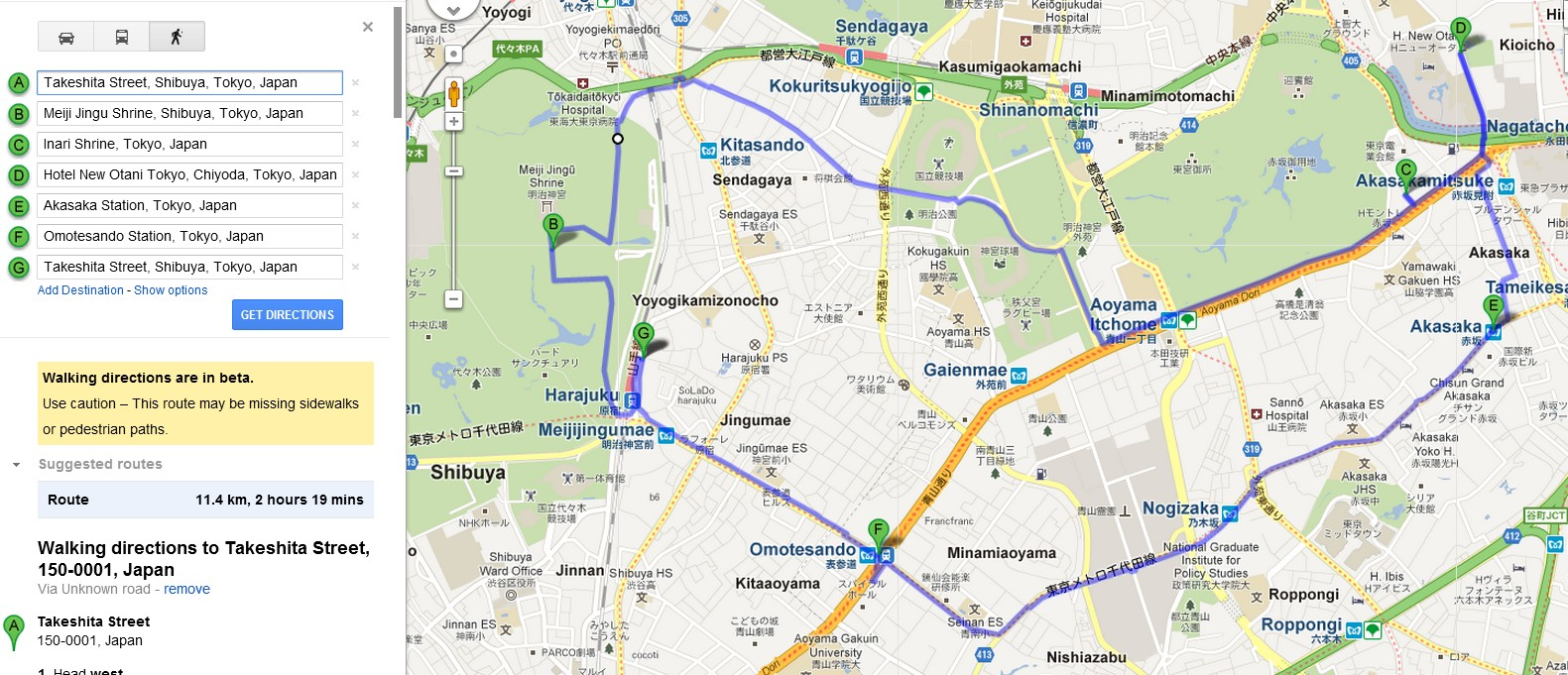 Daily Route