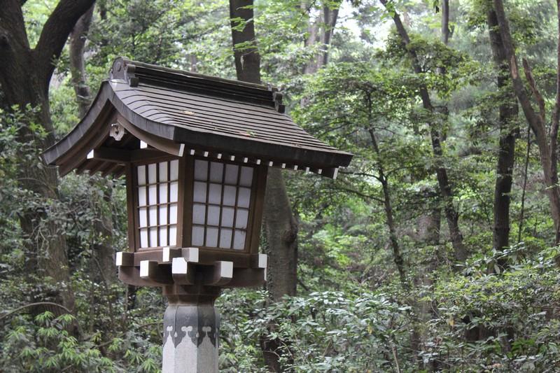 Entrance to Meiji - Lantern